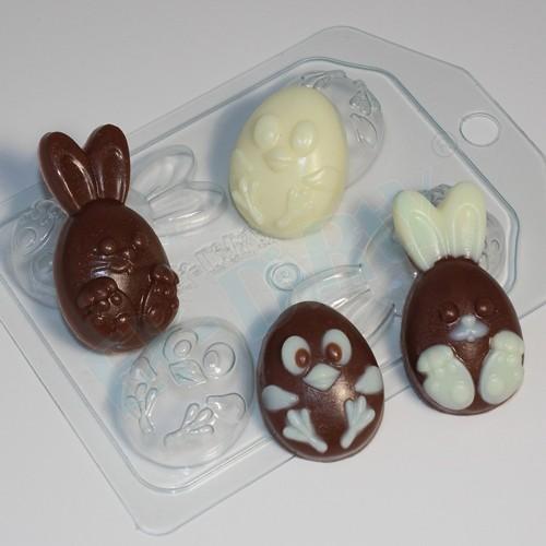 Пластиковая форма Кролик и цыпленок мультяшные МИНИ
