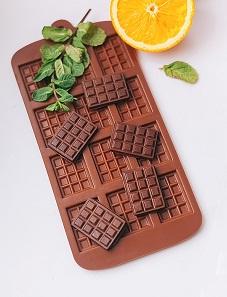 Силиконовый молд Плитка шоколада, 12 шт