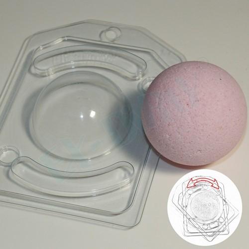 Пластиковая форма Полусфера D60 с позиционированием