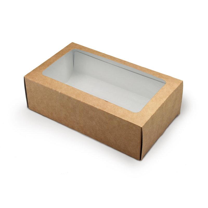 Коробка с окошком пенал 180*105*55мм