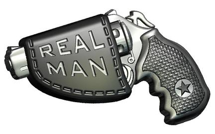 Пластиковая форма Пистолет real men
