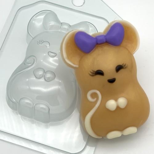 Пластиковая форма Мышь с бантом