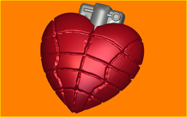 Пластиковая форма Сердце граната