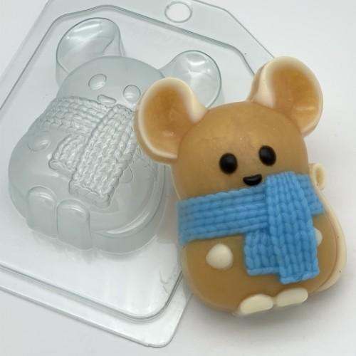 Пластиковая форма Мышь с шарфом