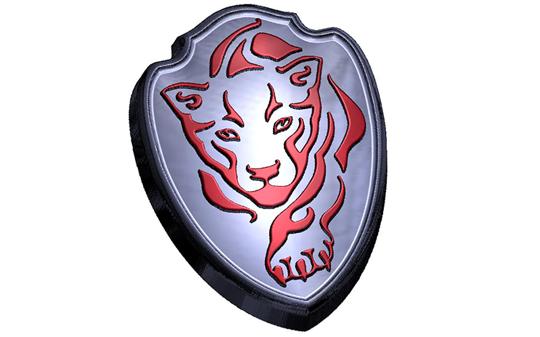 Пластиковая форма Тигр щит