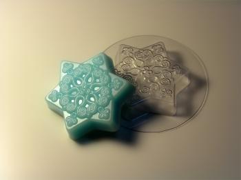 Пластиковая форма Маленькая снежинка