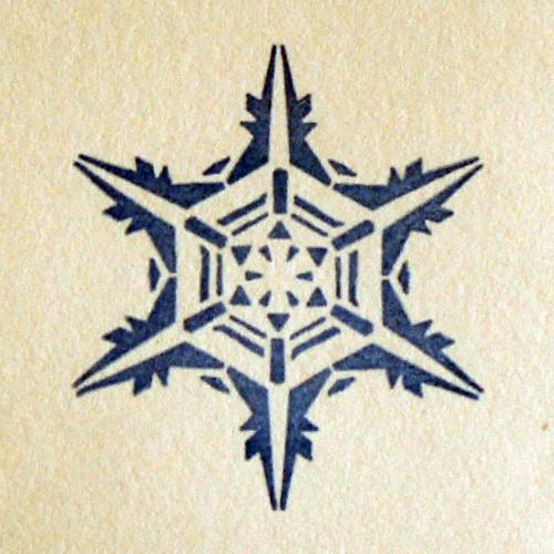 Силиконовый штамп Снежинка 3