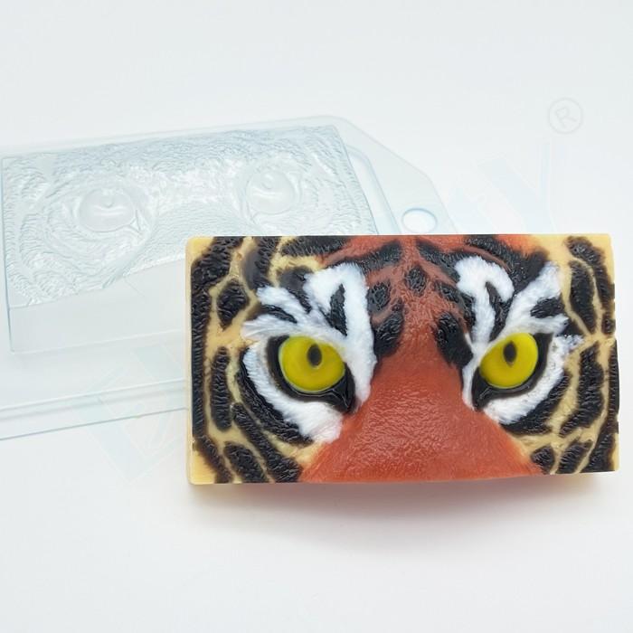 Пластиковая форма Тигр взгляд