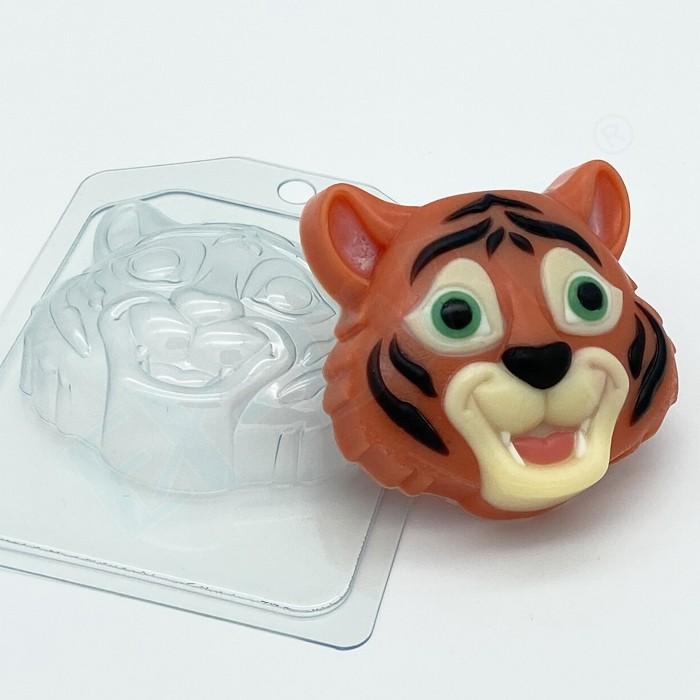 Пластиковая форма Тигр мультяшная морда