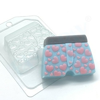 Пластиковая форма Труселя с сердечками
