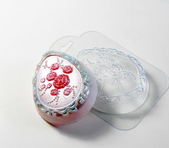 Пластиковая форма Яйцо с розочками