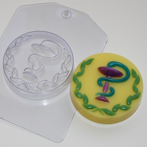 Пластиковая форма Медицинская змея