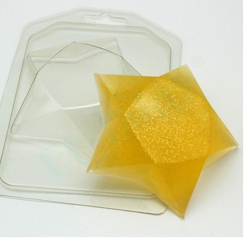 Пластиковая форма Звезда граненая