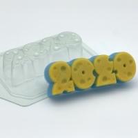 Пластиковая форма 2020 - Сырные цифры