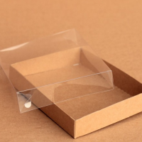 Коробка для конфет с прозрачной крышкой, 140 х 105 х 25 мм