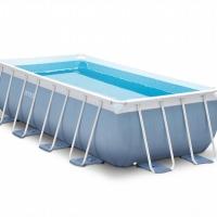 Бассейн каркасный прямоугольный (400х200х100см)+насос-фильтр, лестница INTEX арт.28316
