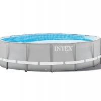 Бассейн каркасный (488Х122см)+насос-фильтр, лестница, тент, подстилка  INTEX арт.28322