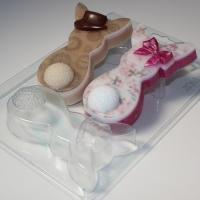 Пластиковая форма  Кролики плоские Парочка