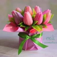 Готовое мыло Тюльпаны