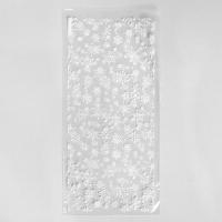 Пакет прозрачный Снежинки, 15*30см