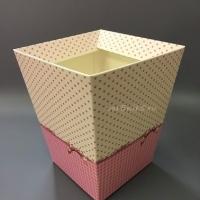 КАШПО_трапеция картон Сердечки клеточки