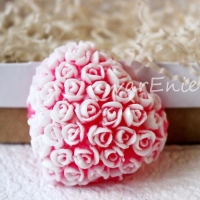 Готовое мыло сердце в розах