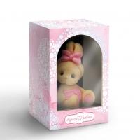 Коробка с окошком вертикаль розовая