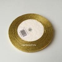 Лента металлизированная, золото , 6 мм (20м)