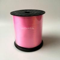 Лента упаковочная бабина  0,5 см , 100у (розовая)