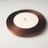 Лента атласная, шоколад, 6 мм (20м)