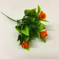Ветка розы оранжевая
