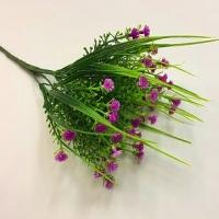 веточка пырея, цветки фиолетовые
