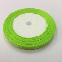Лента атласная, салатовая 6 мм (20м)