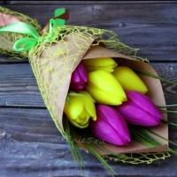 Готовое мыло Букет тюльпанов