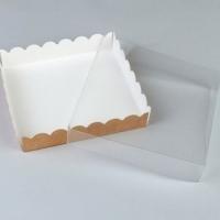 Коробка с прозрачной крышкой 20*20*3,5см