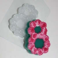 Пластиковая форма 8 Марта /розы