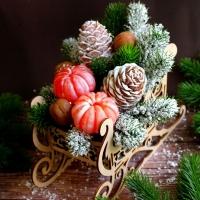 Букет Сани новогодние