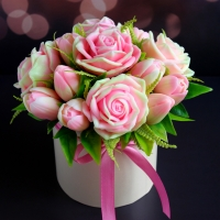 Мыло Букет Тюльпаны и розы