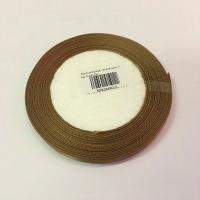Лента атласная, лесной орех, 6 мм (20м)