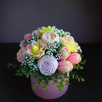 Готовое мыло Букет Цветы и безе
