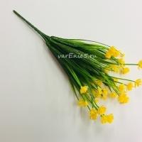 веточка пырея, цветки желтые