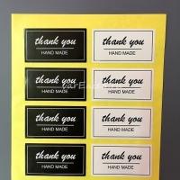 Наклейки крафт thank you (hand made), 8 шт