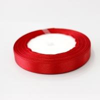 Лента атласная, красный, 12 мм (20м)