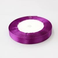 Лента атласная, фиолетовая , 12 мм (20м)