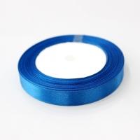 Лента атласная, синяя , 12 мм (20м)