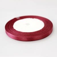 Лента атласная, кофейно-розовая , 6 мм (20м)