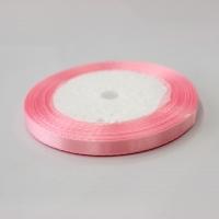 Лента атласная, розовая , 6 мм (20м)