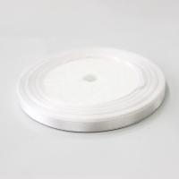 Лента атласная, цвет белый , 6 мм (20м)