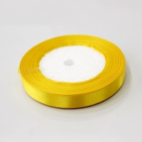 Лента атласная, желтая, 12 мм (20м)
