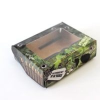 Коробка для мыла Настоящему мужчине (малая), 1шт